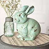 Cheap CTW 420071 Decorative Metal Bunny Rabbit Statue Figurine for Tabletop, Home, Office, Garden, Yard, Indoor Outdoor, Easter Spring Decor, Cast Iron, Rustic Farmhouse Style, Green Rust