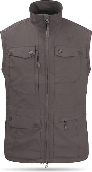 normani Herren Outdoor Weste mit atmungsaktivem Sonnenschutzmaterial 50+ XS-5XL Farbe Schwarz Gr/ö/ße 5XL