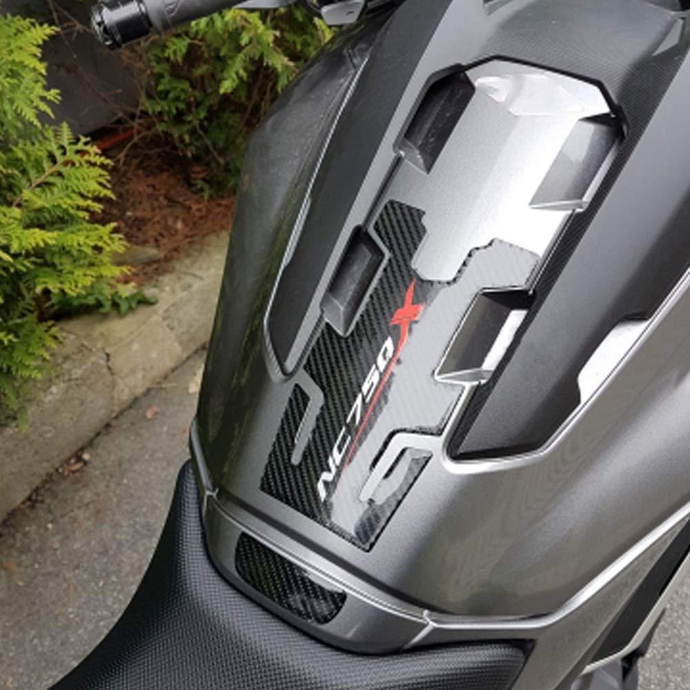 XZANTE Tampon de R/éservoir DEssence de Carburant DHuile en Fibre de Carbone pour Moto Autocollant Protecteur Autocollant de Tampon de R/éservoir pour Nc700X