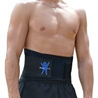 ComfyMed Advanced Back Brace CM-AB18 for Lower Back Pain Relief - Support Belt for...