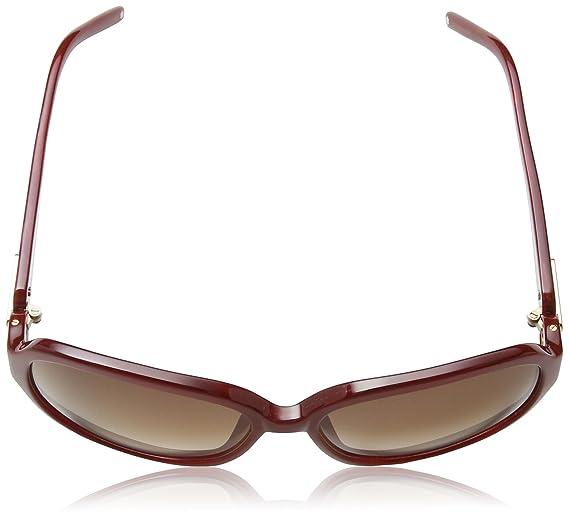 c7633a433dbbe Mont Blanc - Lunette de soleil MB313S Rectangulaire - Homme - Burgundy Rose  Frame   Gradient Brown  Amazon.fr  Vêtements et accessoires