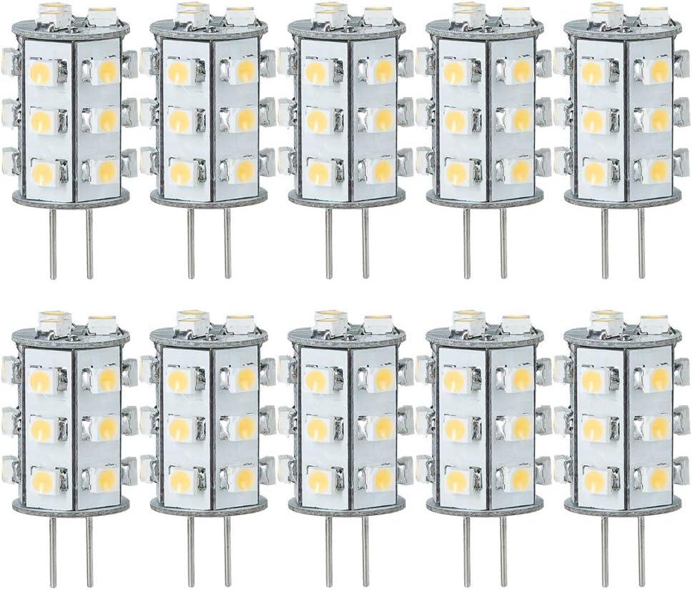 Paulmann - Juego de 10 bombillas LED con casquillo de patillas (1 W, G4, 12 V, luz blanca cálida, 3000 K)