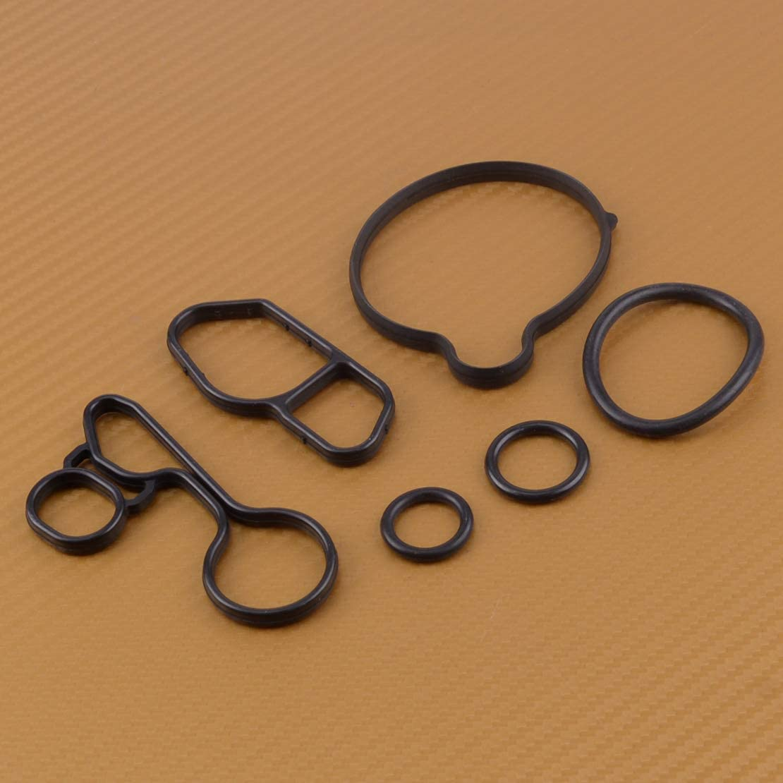 KIMISS Qiilu Engine Oil Filter Housing Seal Gasket Oil Cooler Seal Replacement 11427508971 11427508970