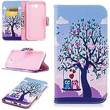 Samsung J7 Phone Case, Samsung Galaxy J7 Perx Case,Premium PU Leather Rubber Samsung J7 Wallet Case with Card Slot Kickstand Galaxy J7 Prime Case for Samsung J7 cases 2017/J7 V/J7 Perx/J7 Sky Pro-Tree