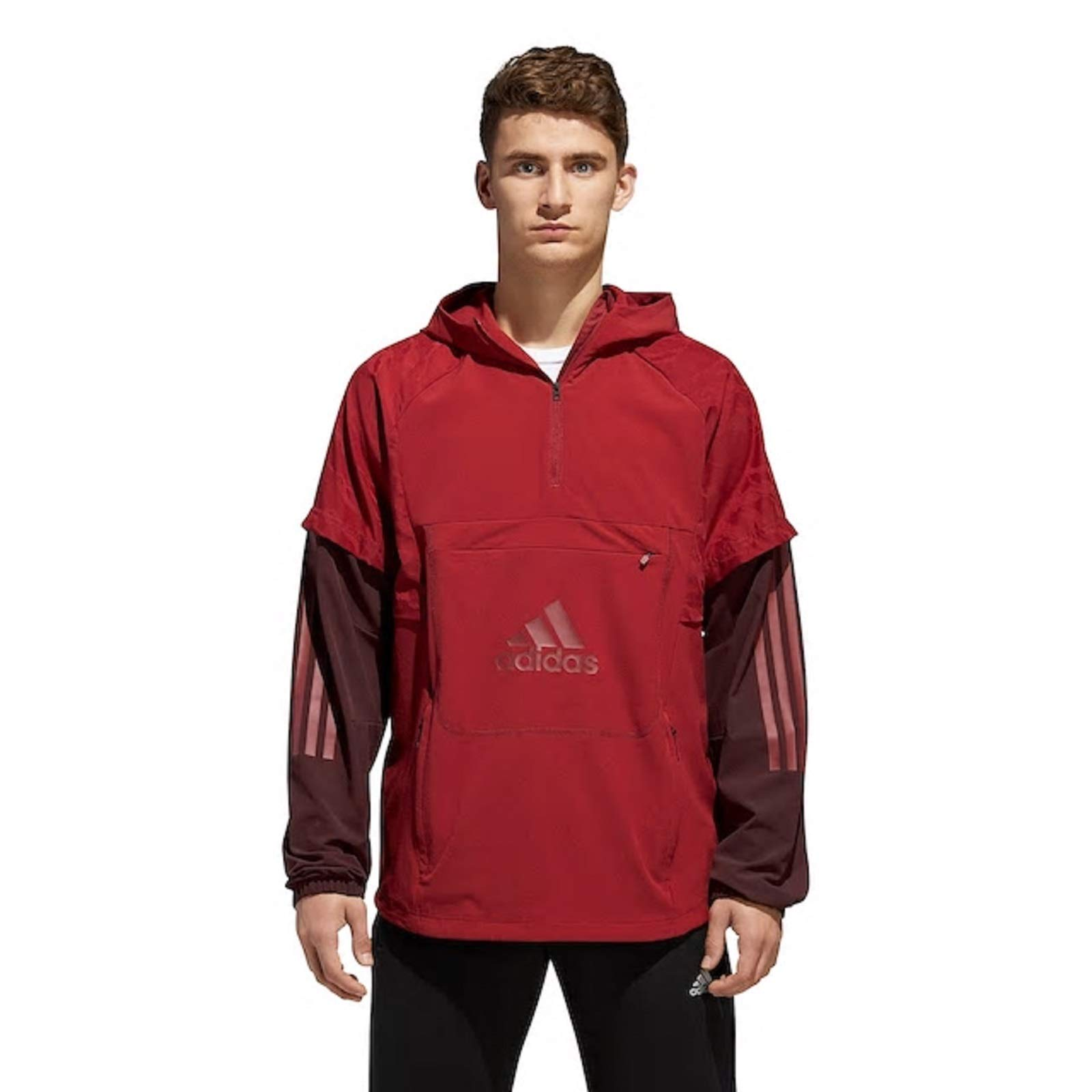 adidas Athletics ID Woven Shell, Noble Maroon/Night Red, X-Large