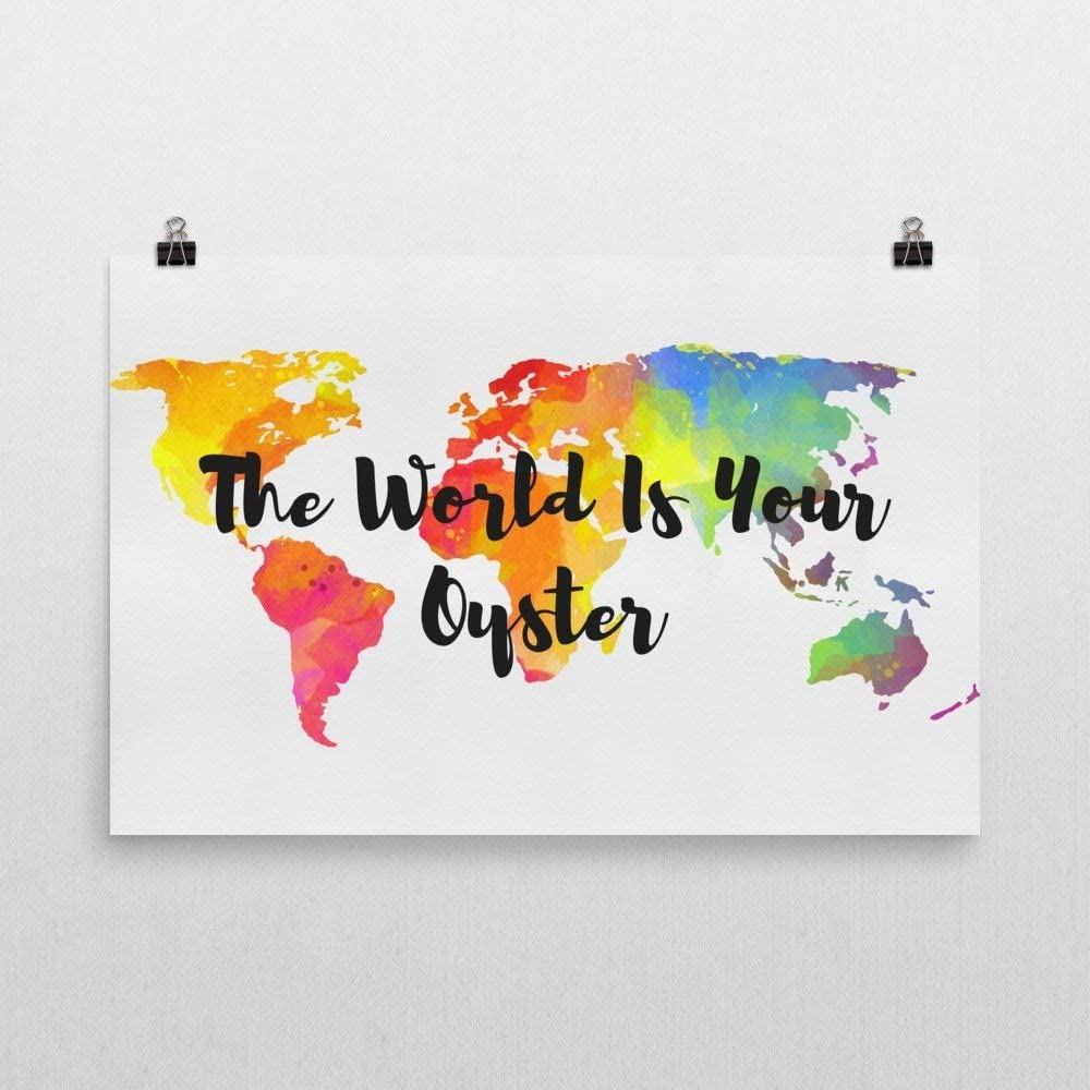 Print Poster Kitchen Prints Geometric Prints The World Is Your Oyster