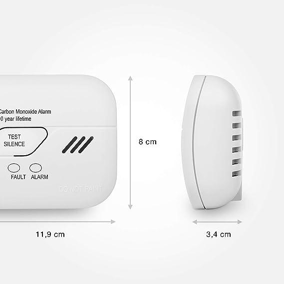 Smartwares FGA-13010 - RM386 - Detector de monóxido de carbono, funciona con pilas, Certificado EN 50291, vida util de 10 años: Amazon.es: Bricolaje y ...