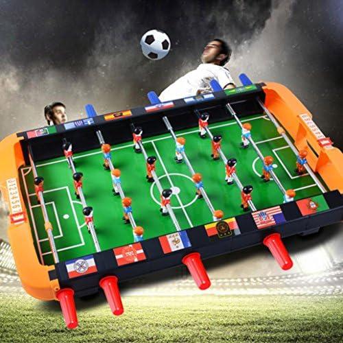 e-scenery portátil Mini futbolín de mesa futbolín fútbol mesa de juego interior y exterior juego de fútbol para niños Navidad regalos: Amazon.es: Deportes y aire libre
