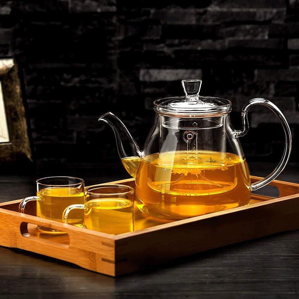 Carl Artbay High Temperature Resistance ZS Tea Set Brew Tea Kettle Household Filter Liner Tea Set Tea Set 750ml (teapot +2  4 Cups + Tea Tray) (UnitCount : B) (Size : A) by Carl Artbay