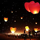 1 Pc Eco-Friendly Sky Lanterns, Heart Shaped