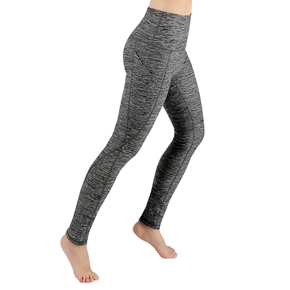 Pervobs Women Workout Skinny Stretch Leggings Fitness Sports High Rise Running Yoga Athletic Pants Pantalones