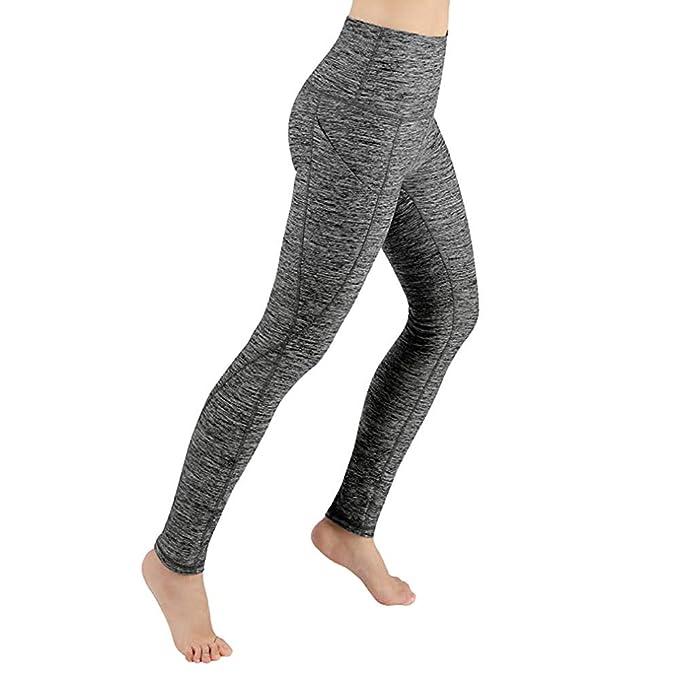 a04e8daae4 Pantalones Leggings de Yoga Largo para Mujer Primavera Invierno PAOLIAN  Pantalones Deportivos Mallas Running Fitness Cintura Alta Elástica  Pantalones Jogger ...