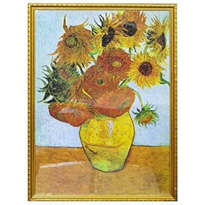 1000 Piece Jigsaw Puzzle, Sunflowers by Vincent Van Gogh for Adults: Toys & Games