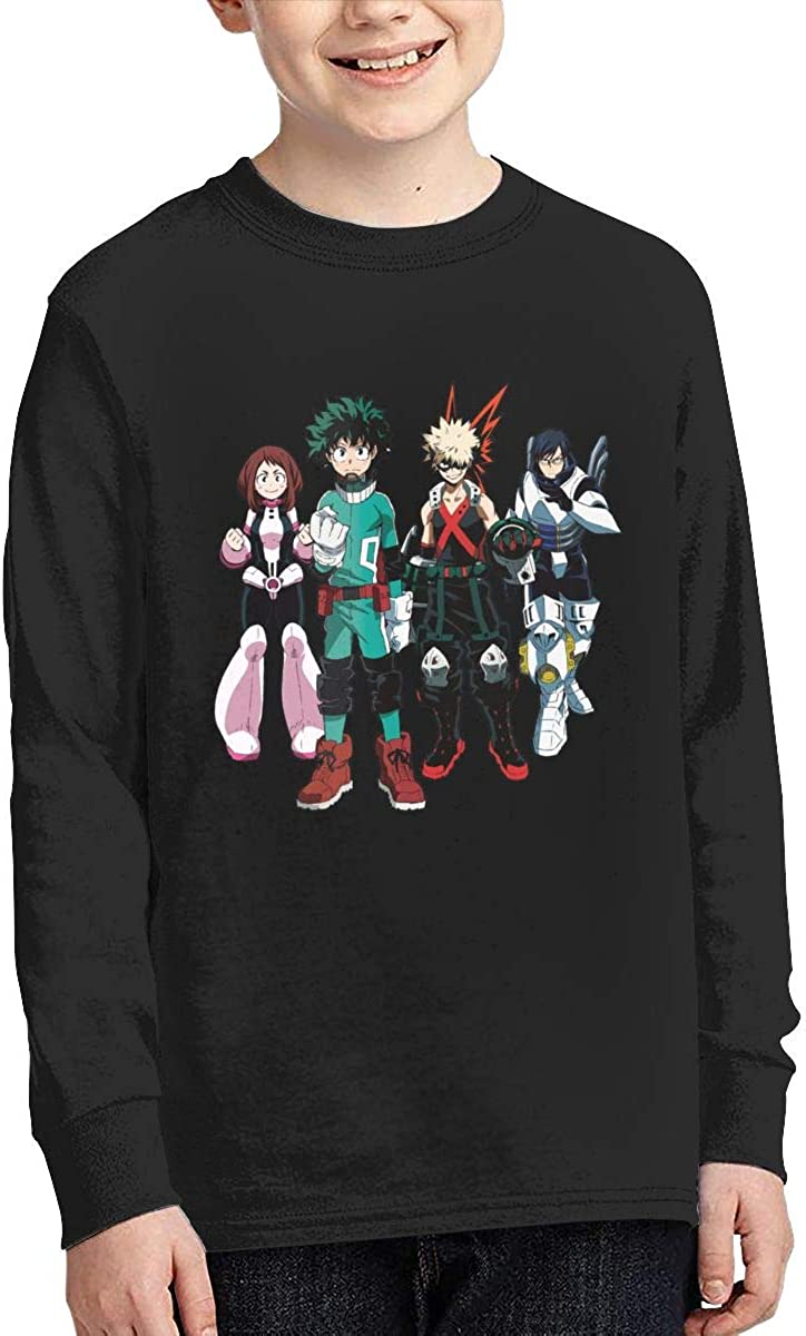 Optumus My Hero Academia Kids Sweatshirts Long Sleeve T Shirt Boy Girl Children Teenagers Unisex Tee