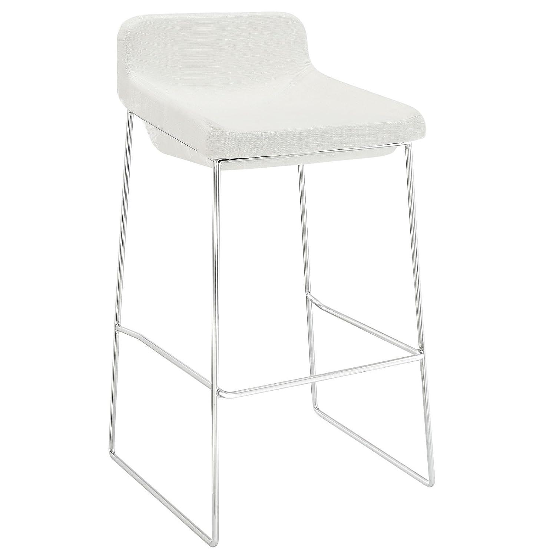 amazon com modway garner bar stool white kitchen dining