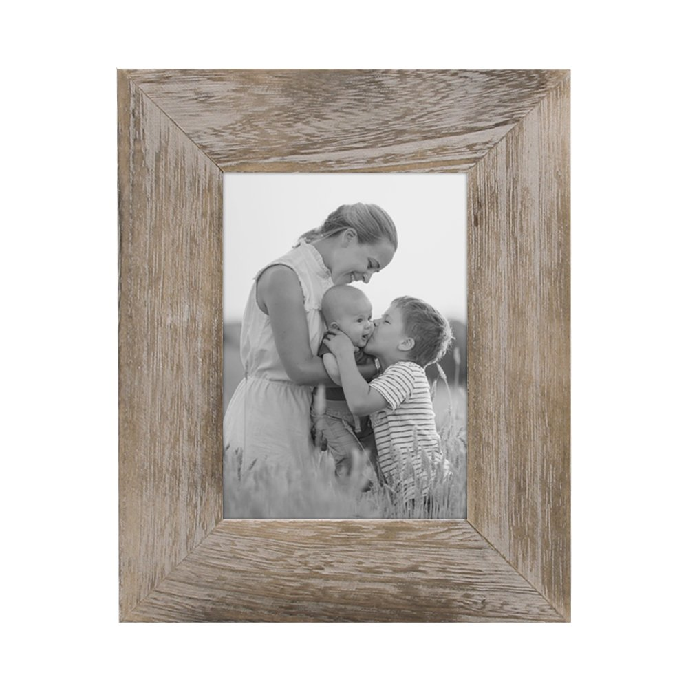 Afuly Rustic Picture Frame 5x7 Brown Distressed Wood Photo Frames for Wedding Grandmother Gifts by Afuly