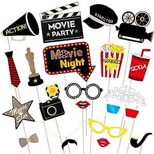 Amazon.com: luoem Hollywood fiesta temática apoyos noche de ...