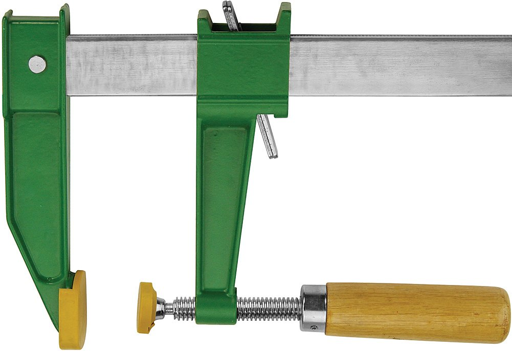 Woodtek 114635, 4-pack, Clamps And Vises, Bar & Pipe Clamps, 5'' X 18'' Joiner Clamp With Pads