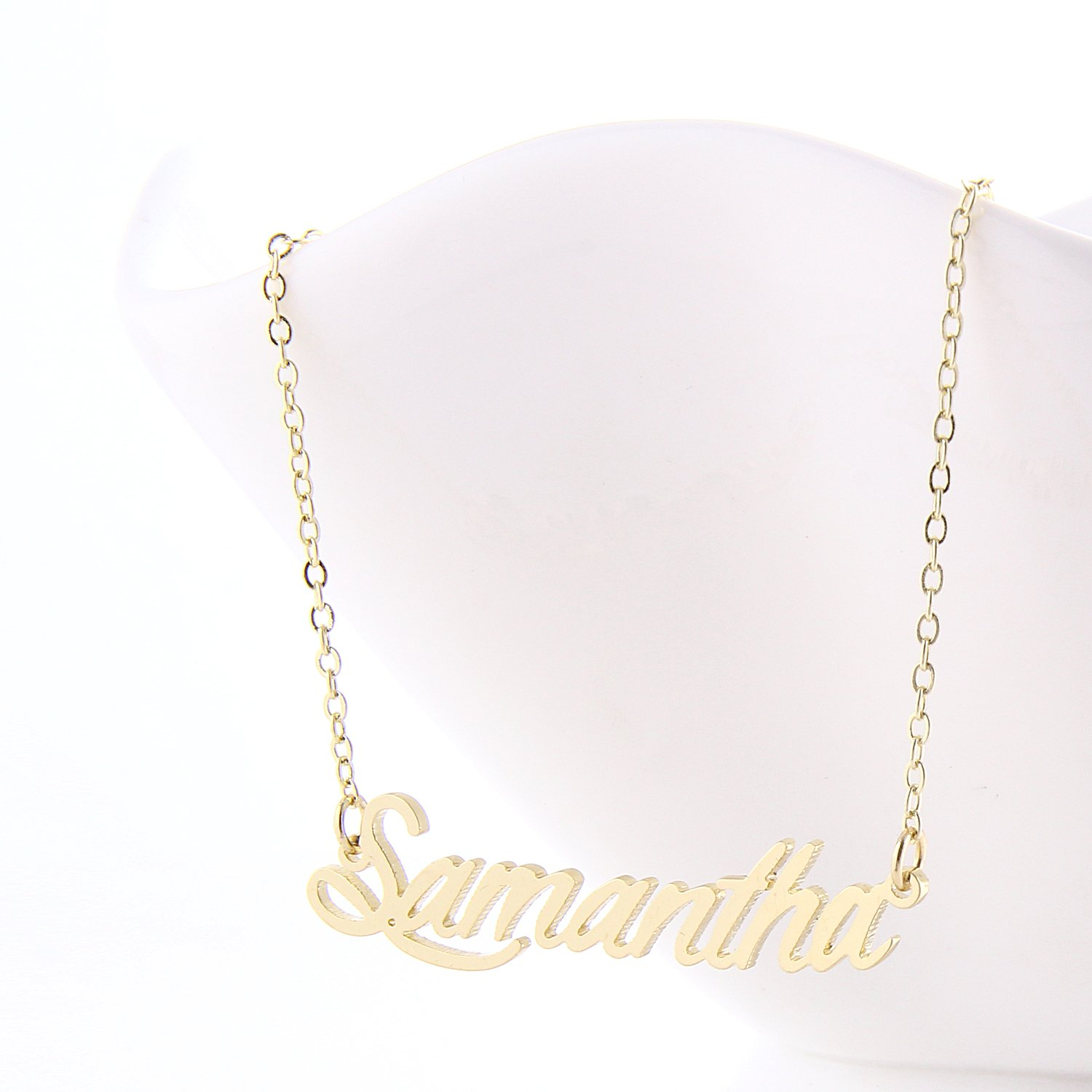 pendant necklace jewelry casual dp name cursive elizabeth aolo com amazon