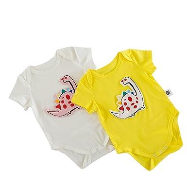 8f47d4a6b92d 2 Colours Summer Infant Jumpsuits Baby Boys Comfy Sunsuit Twins Girls  Playsuits Dinosaur Cotton Outfits Overalls