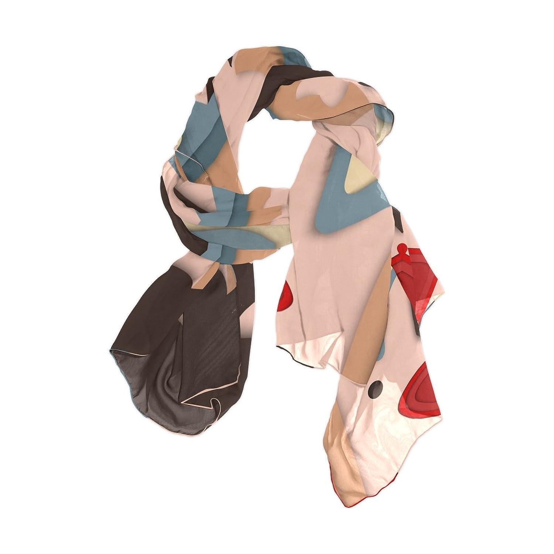 MRMIAN Mask Colorful Long Lightweight Silk Chiffon Scarf Wrap Shawl Stole