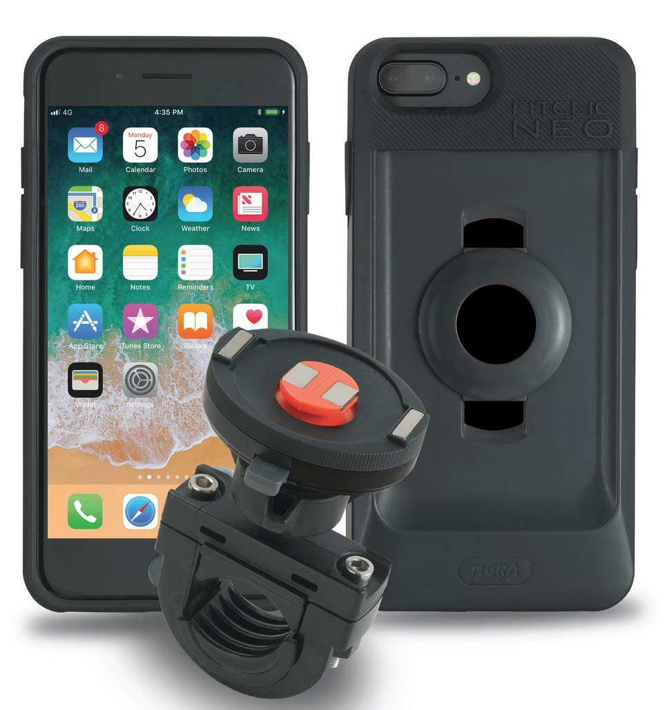 Tigra Sport FitClic Neo iPhone 6+/6s+/7+/8+ Self-Locking Magnetic Motorcycle Mounting System with Phone Case