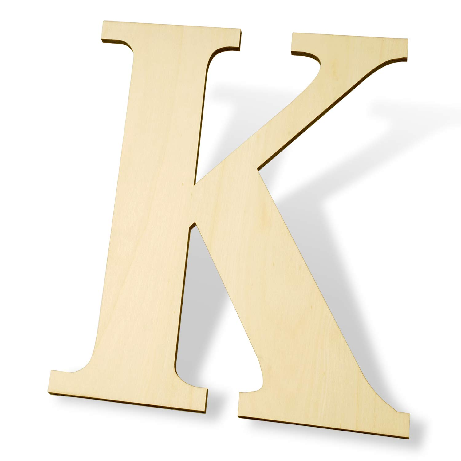 12 inch Wooden Letters K - Blank Wood Board, Wood Letters for Walls Decor, Party, DIY Craft Projects (12
