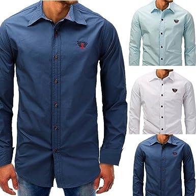 Camisa para Hombre, Winwintom Blusa Casual De Manga Top De Color SóLido Blusas Suelta Camisas De Trabajo Suave CóModo Transpirable M L XL 2XL 3XL, Ultra Hombre Camisa: Amazon.es: Ropa y accesorios