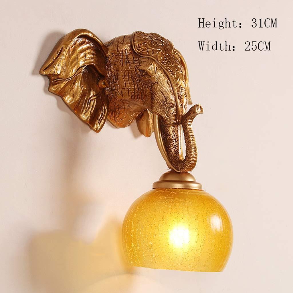 象の壁ランプ階段ポーチリビングルームアイザルバーのベッドルームクリエイティブパーソナリティ動物ヨーロッパのホテルクラブハウス衣料品店ウォールランプ (サイズ さいず : 0118) 118  B07KMB45G7