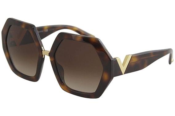 Amazon.com: Gafas de sol Valentino VA 4053 501113 HAVANA ...