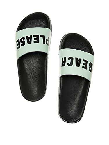 6dbdebd95ab21 Image Unavailable. Image not available for. Color  Victoria s Secret Pink  Slides Sheer Seafoam Glow Beach