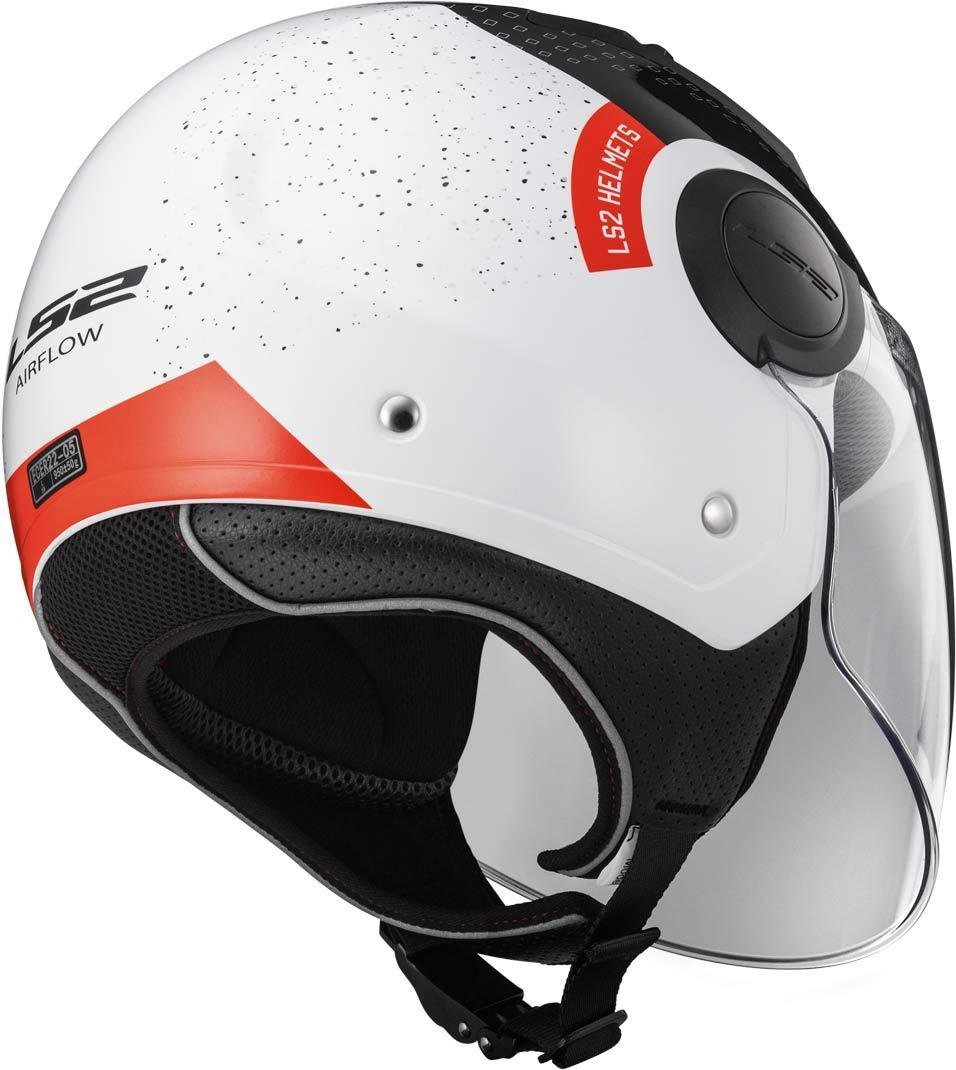 XXL wei/ß//schwarz//rot LS2/Helm Motorrad of562/Airflow Condor