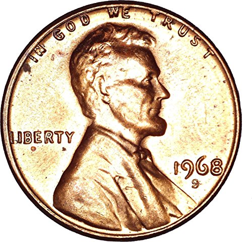 1968 S Lincoln Memorial Cent 1C About Uncirculated