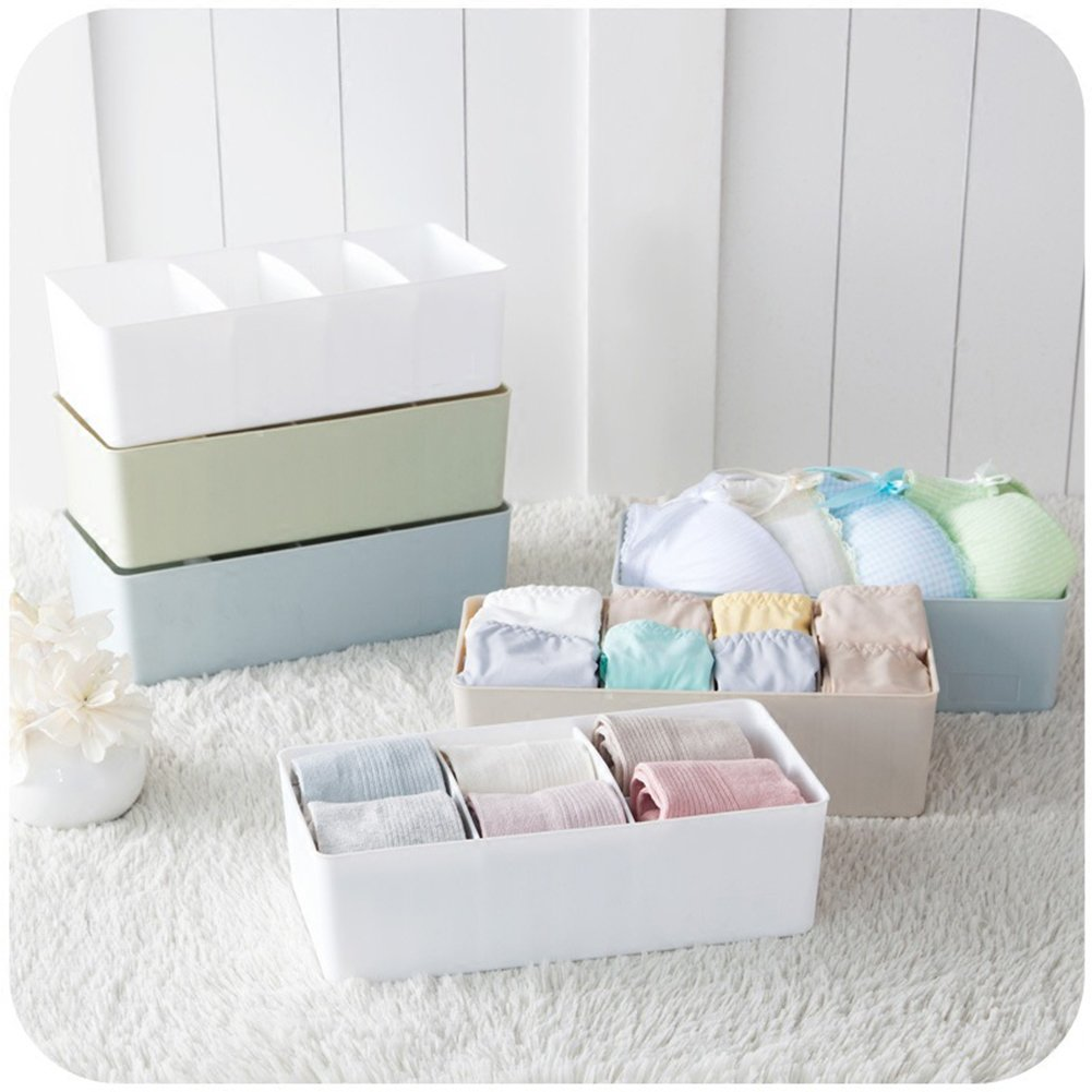 Zehui Plastic Storage Organizer Box with Removable Dividers Jewelry Earring Tool Containers Single Row Blue