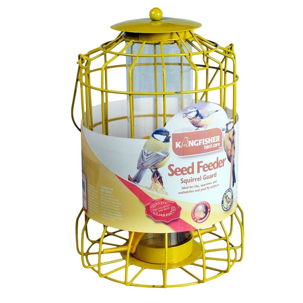 Bonnington Plastics 2XKingfisher BF007S Squirrel Guard Seed Feeder