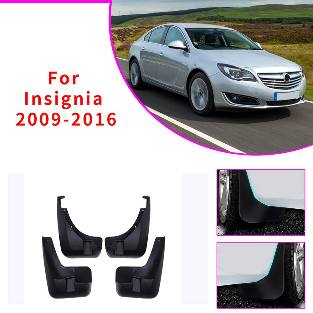 Upgraded Car Mud Flaps Mudguards for OPEL Insignia 2009-2016 Front Rear Splash Guards Car Fender Styling /& Body Fittings Black 4Pcs