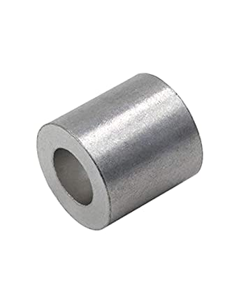 Aluminum Cable Stop Sleeve for 1//4 Inch Wire Rope Swage Clip Aluminum Cable Crimp Sleeves Cable Stops 1//4 Aluminum Swage Sleeves Aluminum Swage Stop for 1//4 Wire Rope Cable 50