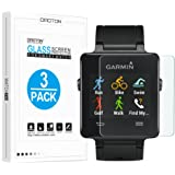 [3 Pack] Garmin Vivoactive Screen Protector, Tempered Glass OMOTON Screen Protector for Garmin Vivoactive Smart Watch [9H Hardness] [Crystal Clear] [Scratch Resist] [No-Bubble]