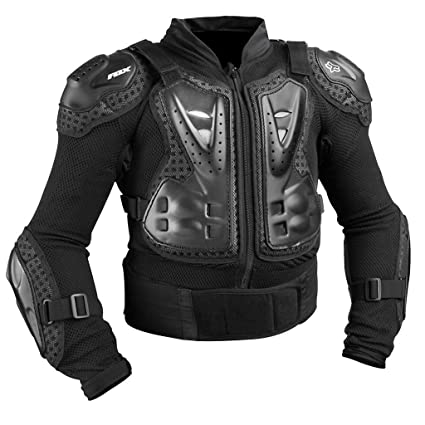 9f5fc49d Fox Racing Titan Sport Jacket Youth Boys Roost Deflector  MotoX/Off-Road/Dirt Bike Motorcycle Body Armor - Black/One Size