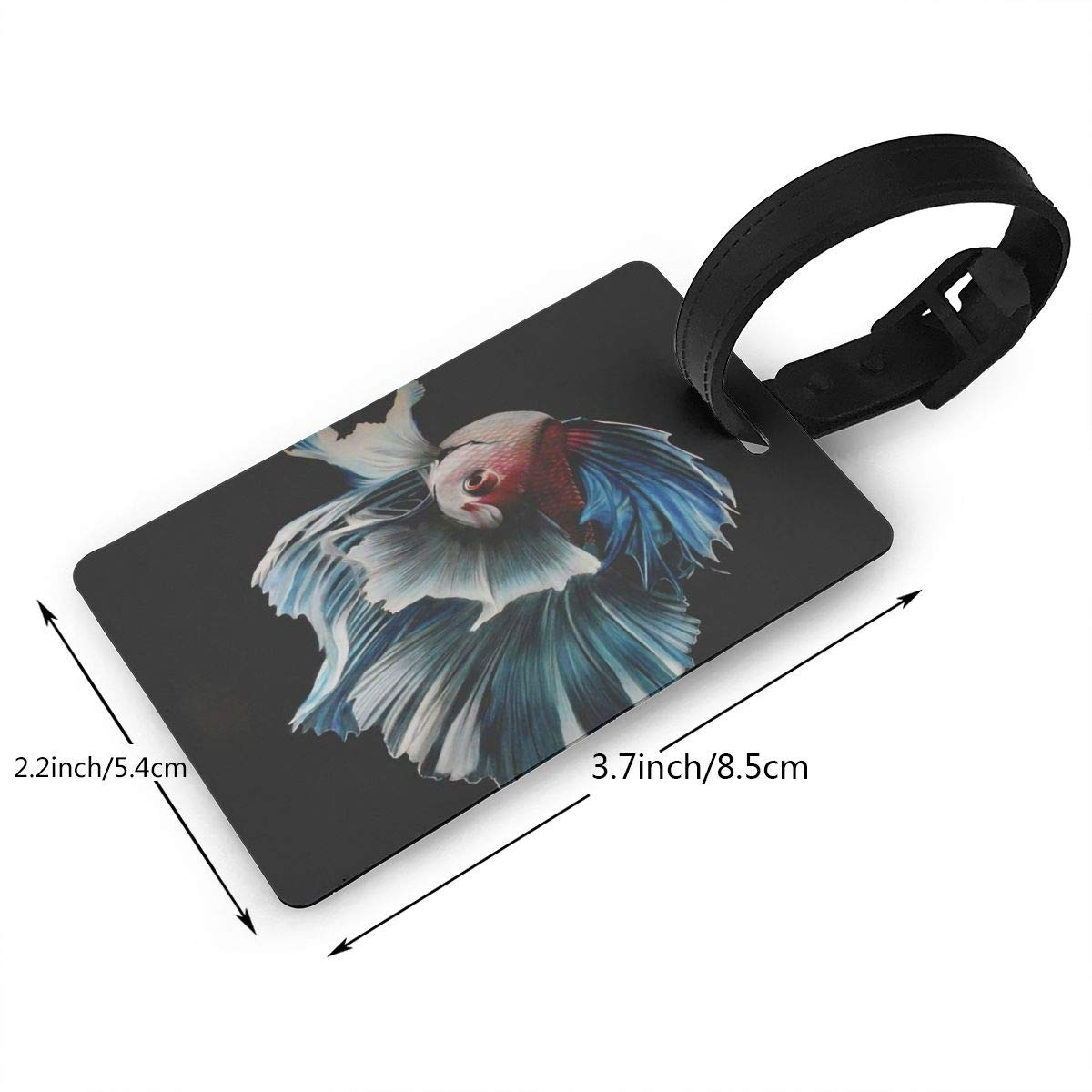 Betta Fish Handbag Tag For Travel Tags Accessories 2 Pack Luggage Tags