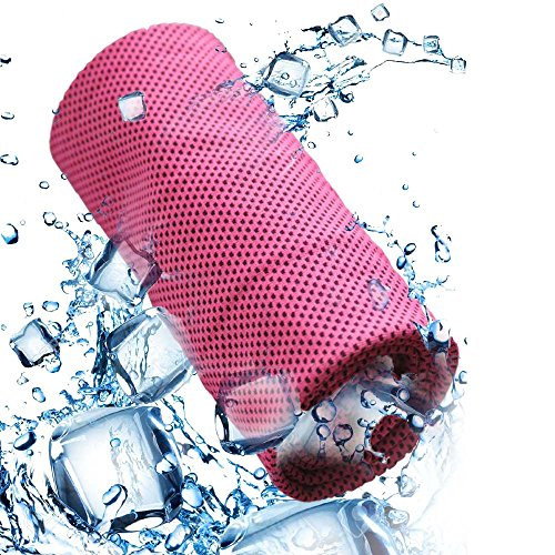Yezala Cooling Towel | Instant Chilling Cold Towels Instant Relief Neck Wrap Scarf for Sports Outdoors(rose red) Cooling Neck Wrap