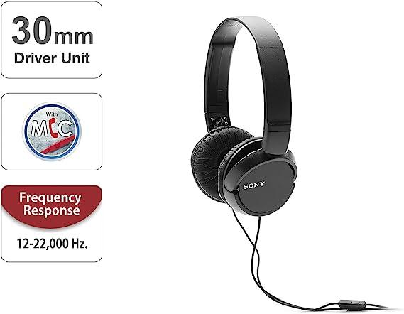 Sony Mdr Zx110ap Faltbarer Bügelkopfhörer Mit Headsetfunktion Schwarz