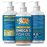 Power Your Pet Omega 3 Fish Oil for Dogs & Cats. Supports Healthy Skin, Coat, Joints, Kidneys, Heart, & Immune System- EPA/DHA Nutrient Rich Fatty Acids, Non-GMO, Odorless- 16 oz bottle