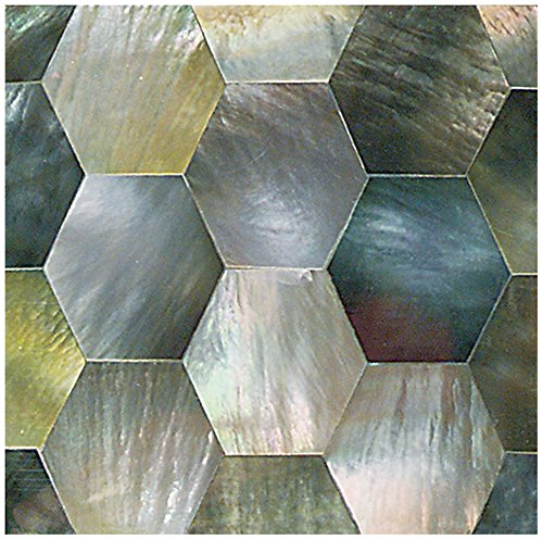 "Dal-Tile 22HX1L-OJ01 ocean Jewels Tile,, 5/8"" x 5/8"",, Black Lip -  Dal-Tile Inc"