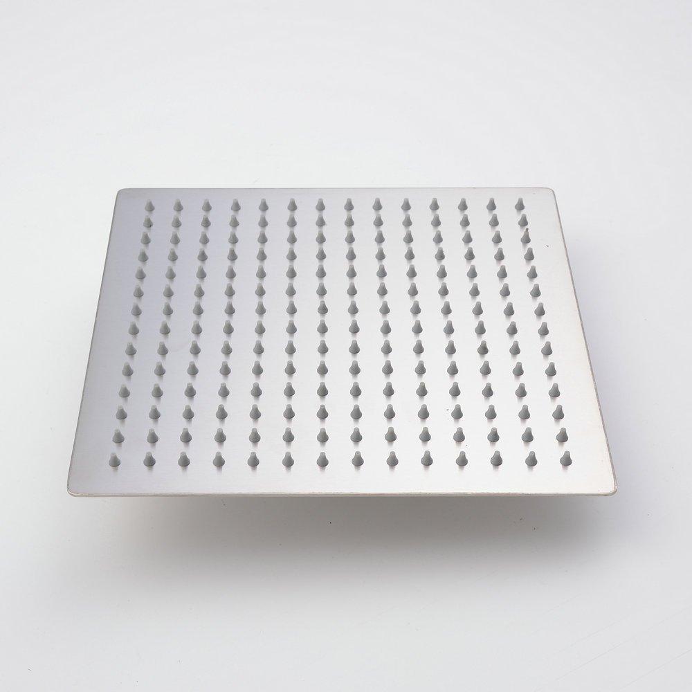 Hiendure® 25cm Ultra delgado Acero inoxidable Ducha de lluvia Cuadrado Ducha de lluvia del estilo