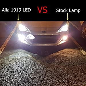Alla Lighting Extremely Super Bright 2600 Lumens H11LL H8LL H11 H8 H16 LED Bulb High Power 1919-SMD 6000K White LED Fog Light Bulbs Lamps Replacement