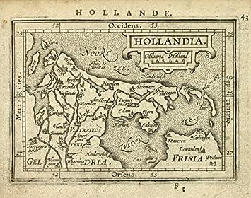 Amazoncom Historic 1603 Map Hollandia Norway Holland