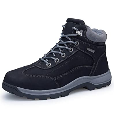Quickshark Men Snow Boots Outdoor Trekking Hiking Shoes Waterproof Insulated  Work Boot Insulated Leather(US f5c62294cef6