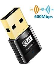 iAmotus USB WiFi Adaptateur [Garantie à 2 Ans] AC600 Mbps Mini Double Bande Wireless WiFi (5GHz 433Mbps/2.4GHz 150Mbps) sans Fil Dongles WLAN Stick pour PC Windows XP/Vista/ 7/8/ 10 Linux Mac OS