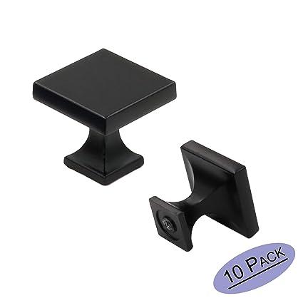 Amazon.com: Paquete de 10 tiradores y pomos cuadrados de ...